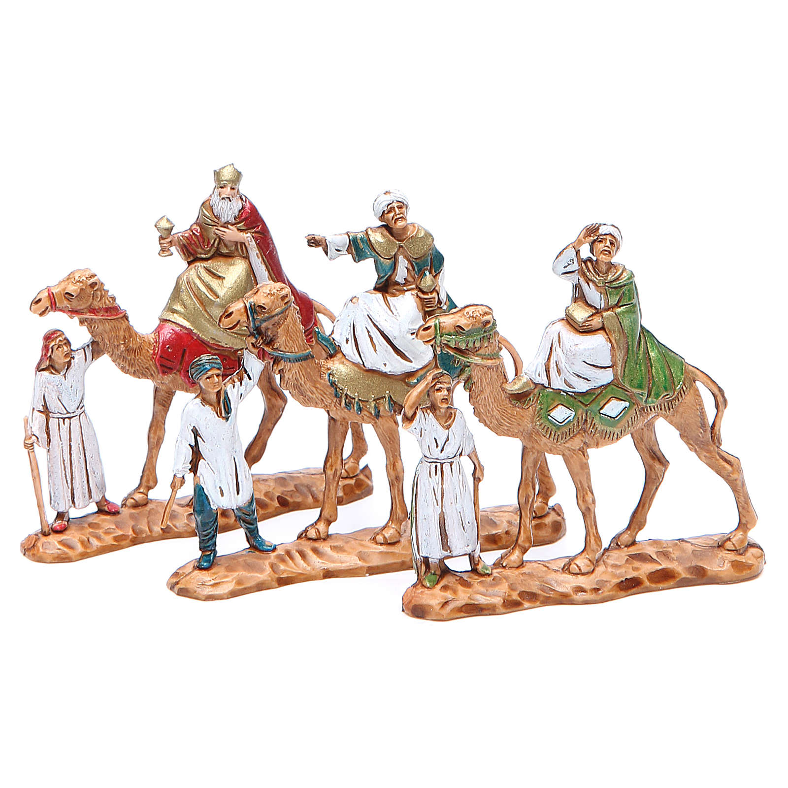 Wise men and camels 3.5cm by Moranduzzo, 3 figurines 4