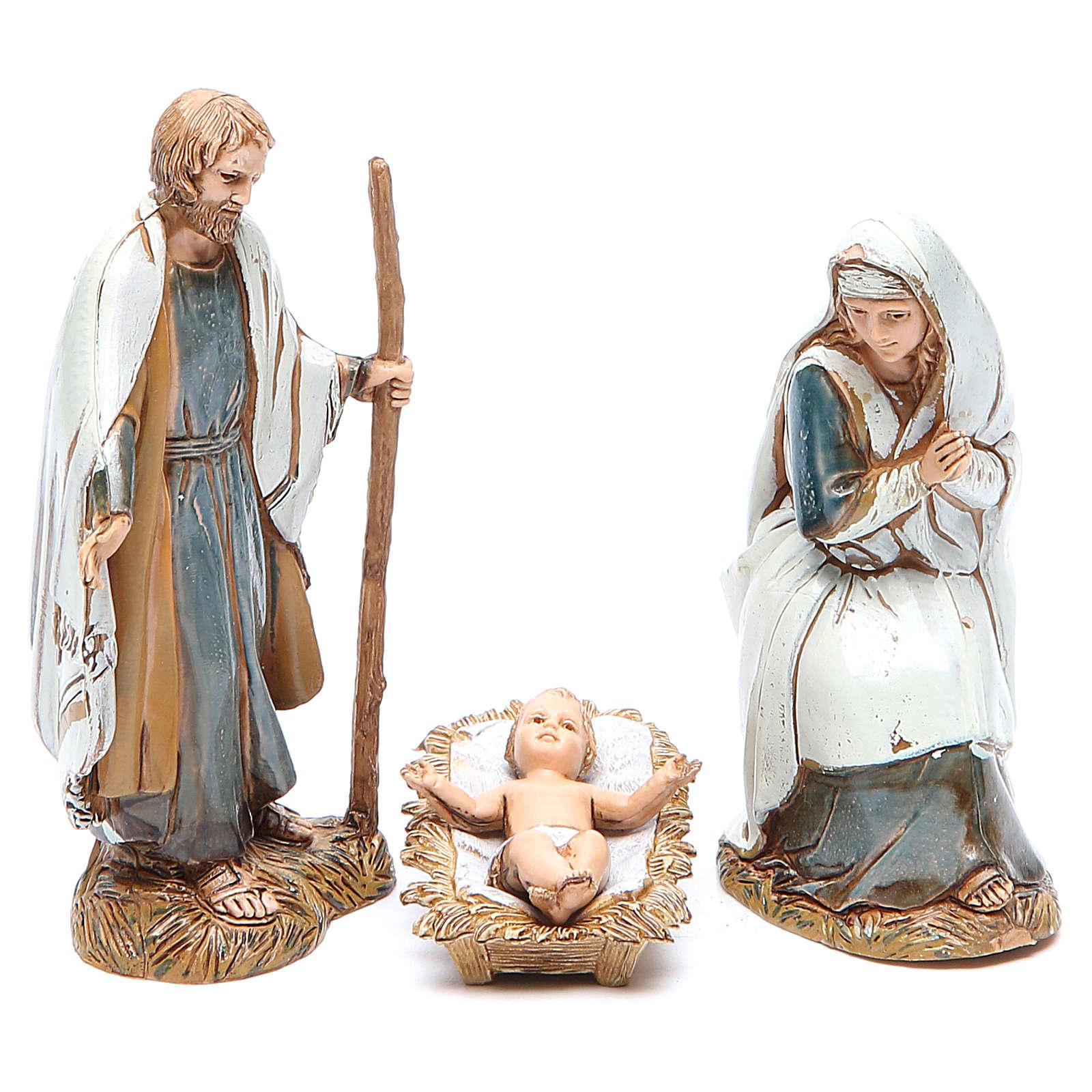 Nacimiento 10 cm Moranduzzo 3 figuras en trajes de época 4