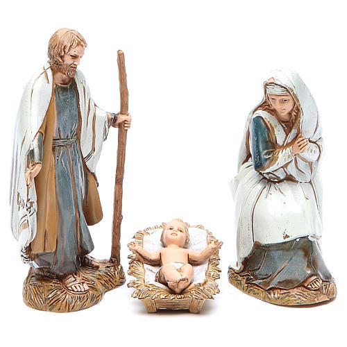 Nacimiento 10 cm Moranduzzo 3 figuras en trajes de época 1