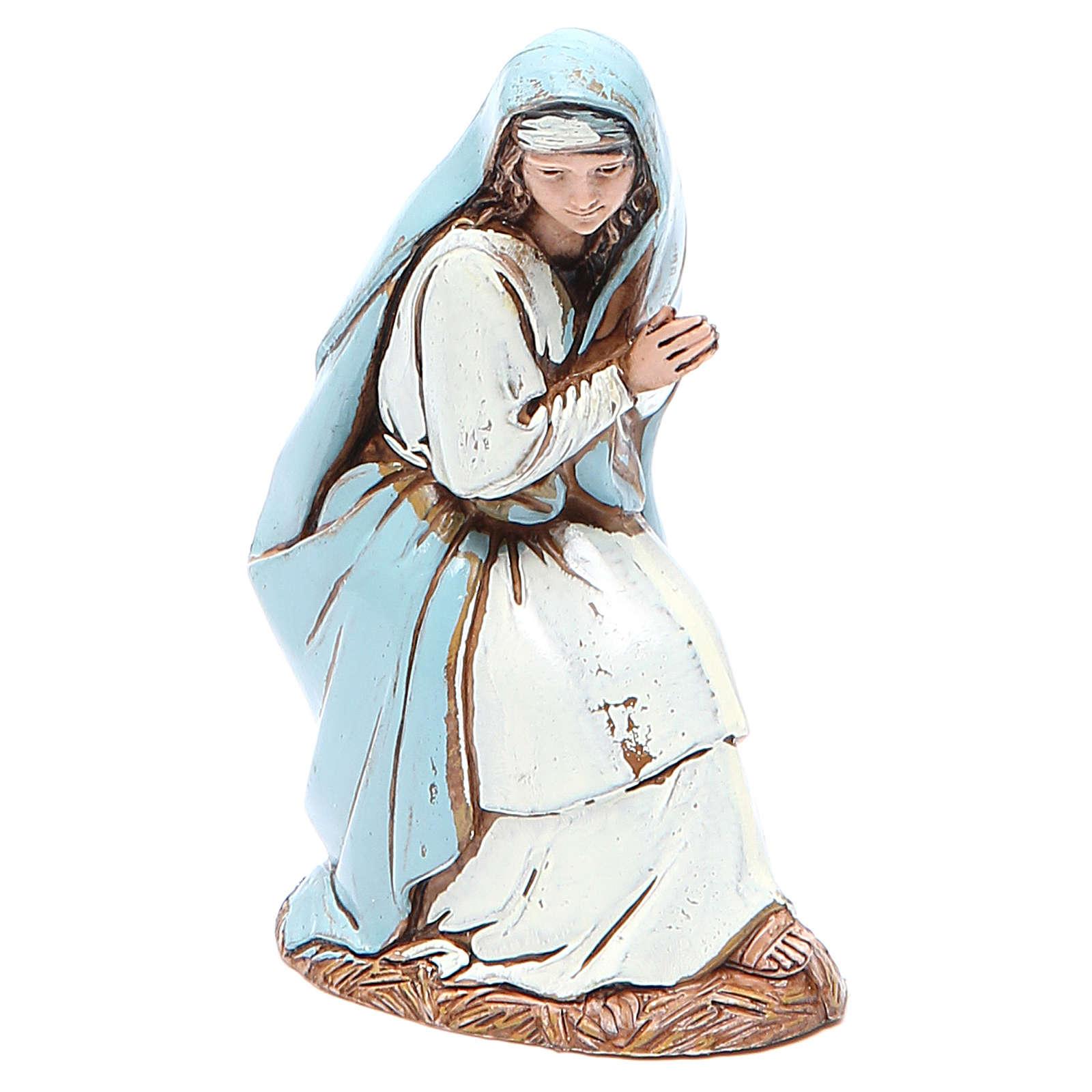 Virgen María 10 cm belén Moranduzzo en trajes de época 4