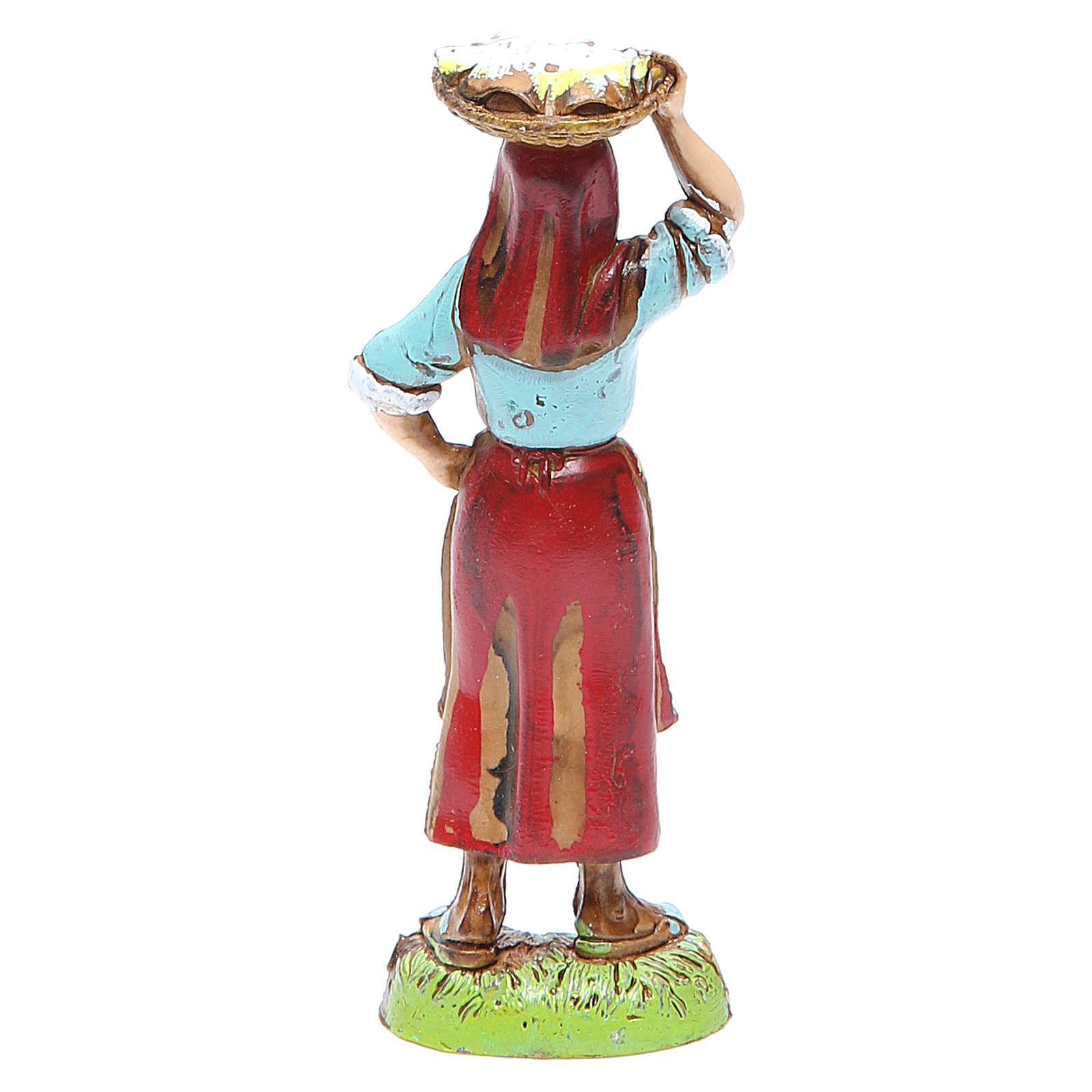 Donna con cesta in testa 10 cm Moranduzzo stile classico 4
