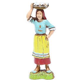 Donna con cesta in testa 10 cm Moranduzzo stile classico s1