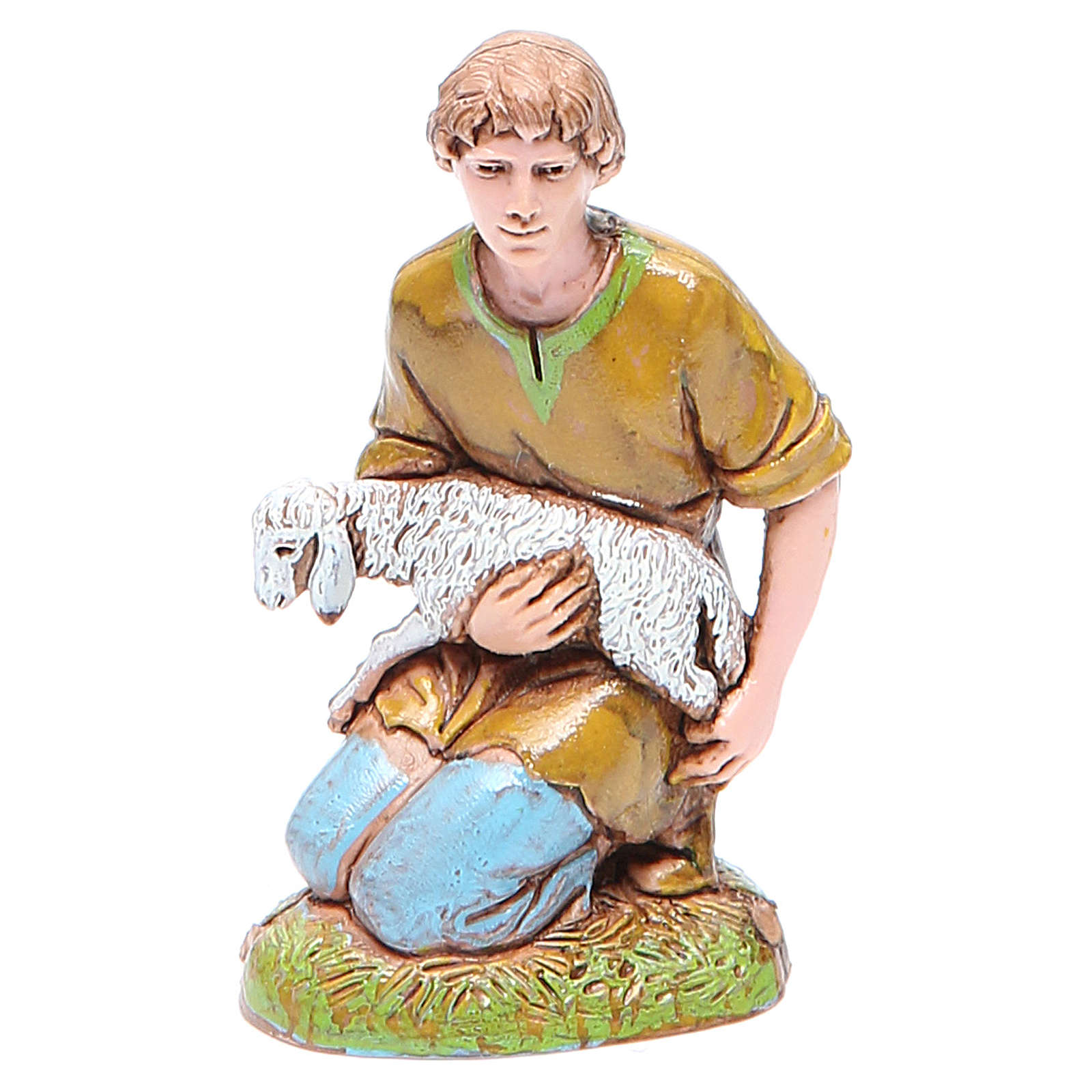 Shepherd with lamb 10cm, Moranduzzo Nativity Scene 4