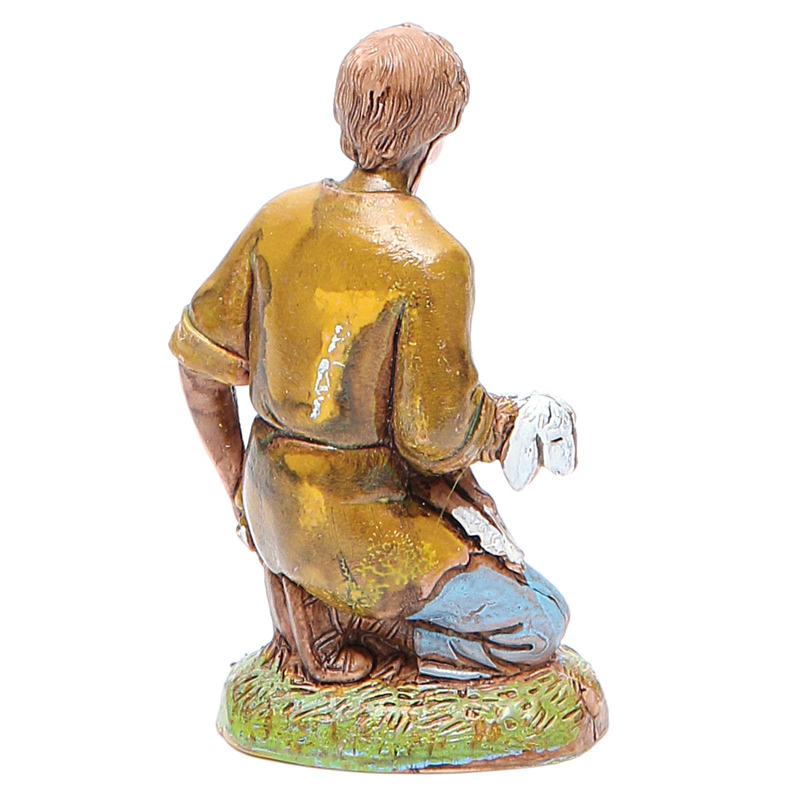 Pastor con cordero 10 cm Moranduzzo 4