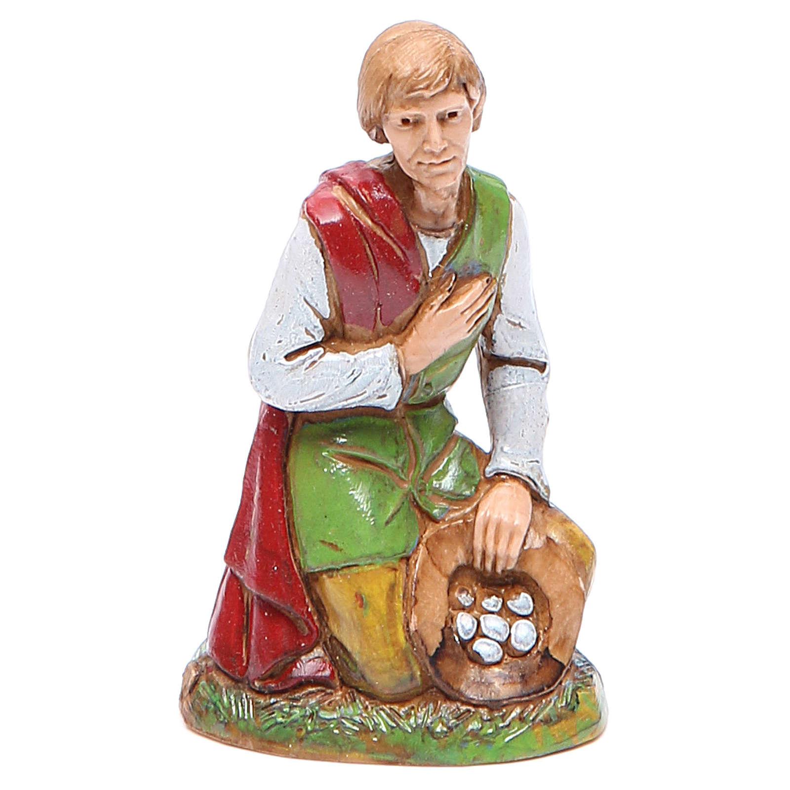 Shepherd with eggs 10cm by Moranduzzo, classic style 4