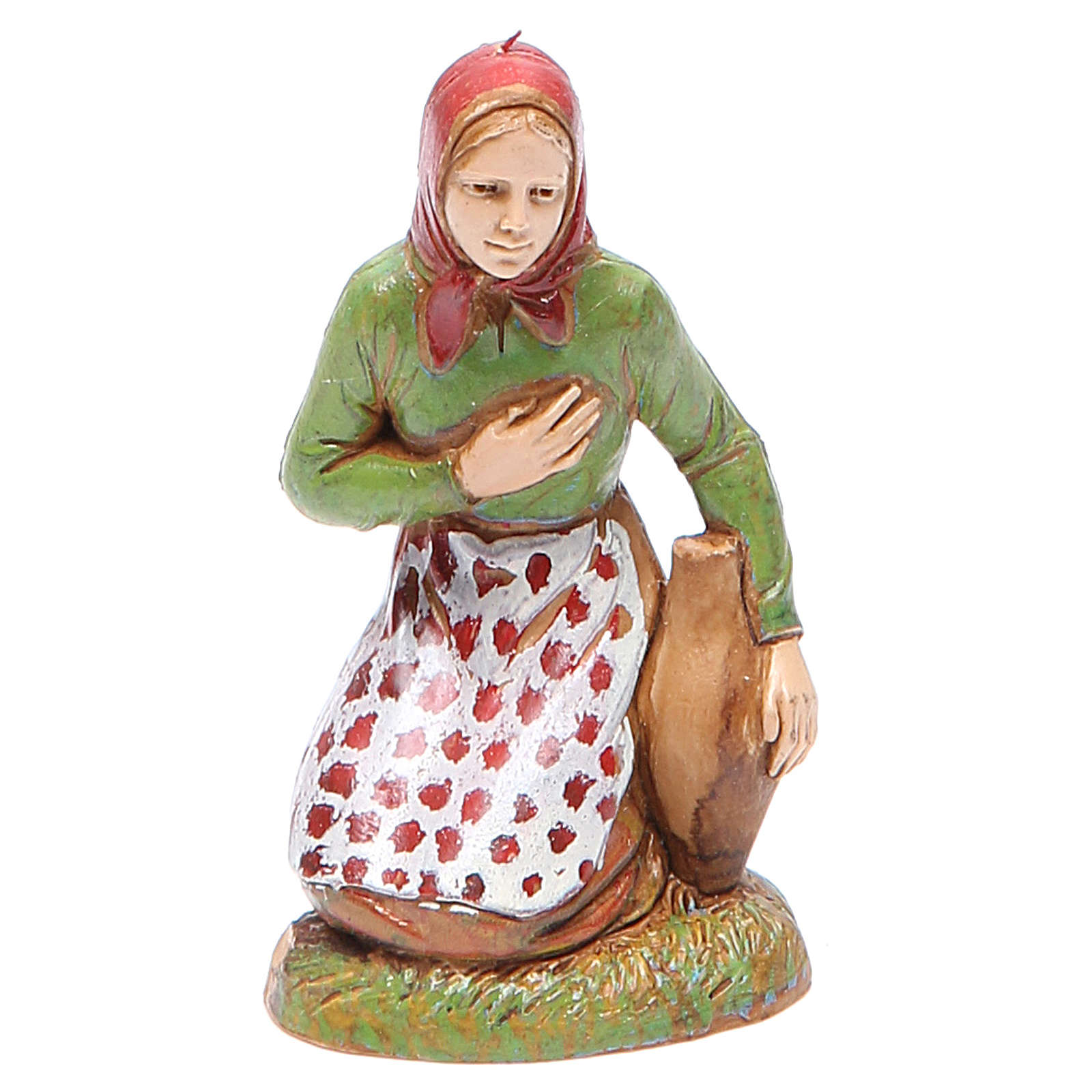 Adoring woman, classic style for nativities of 10cm by Moranduzzo 4