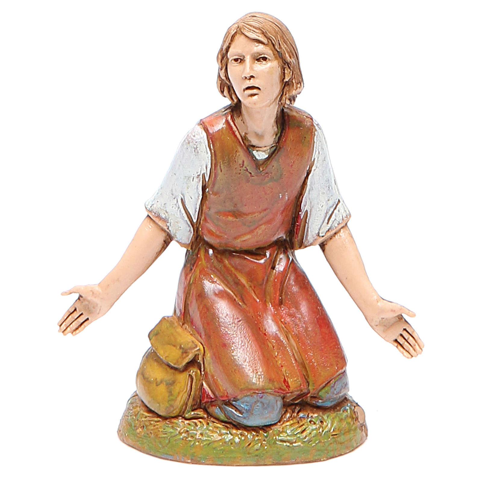 Figura hombre maravillado 10 cm belén Moranduzzo estilo clásico 4
