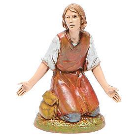 Figura hombre maravillado 10 cm belén Moranduzzo estilo clásico s1