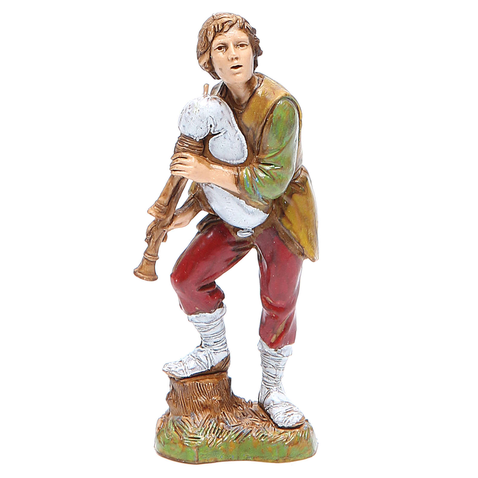 Bagpiper player 10cm classic style, Moranduzzo Nativity Scene 4