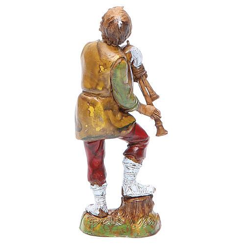 Bagpiper player 10cm classic style, Moranduzzo Nativity Scene 2