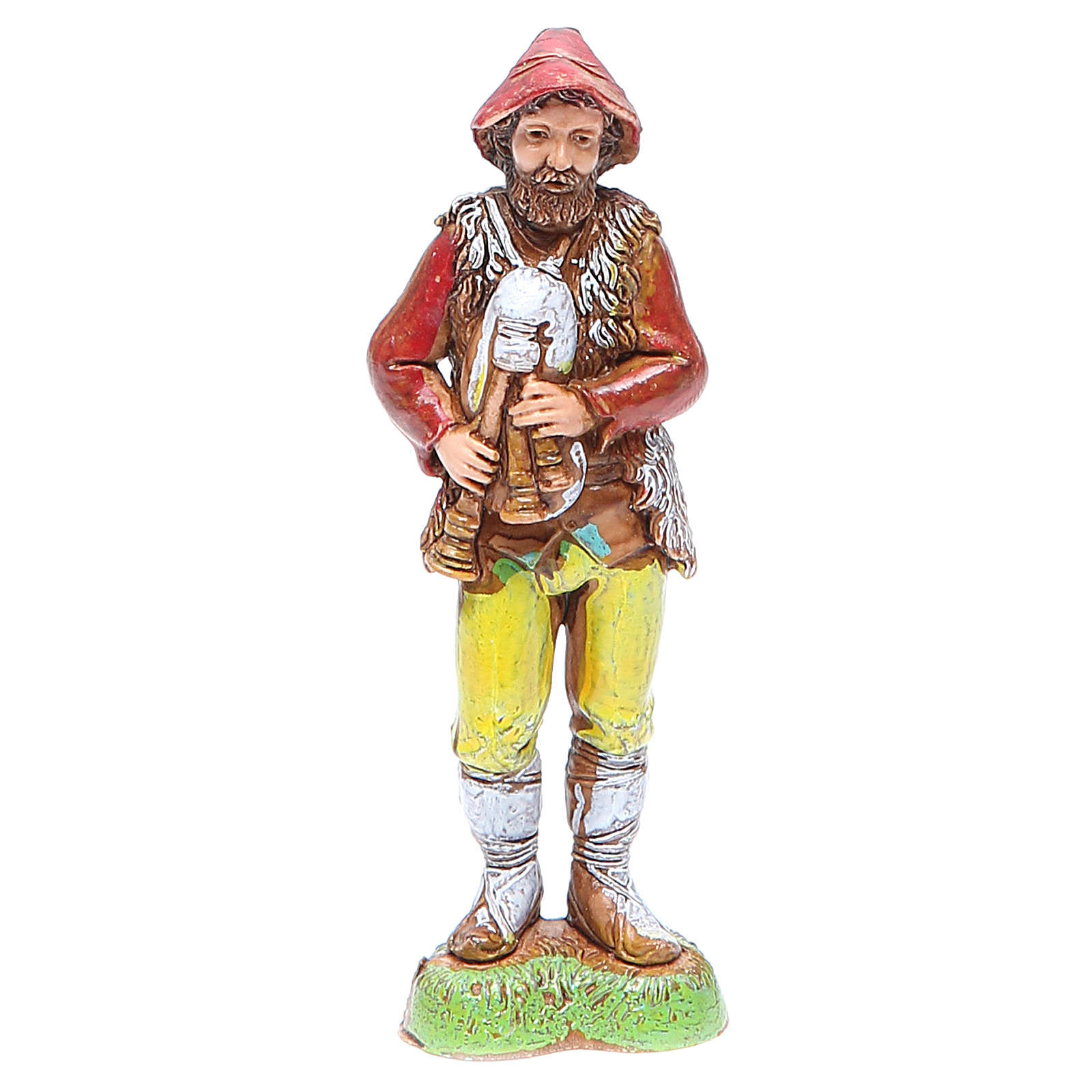 Shepherd with bagpipe 12cm by Moranduzzo, classic style 4