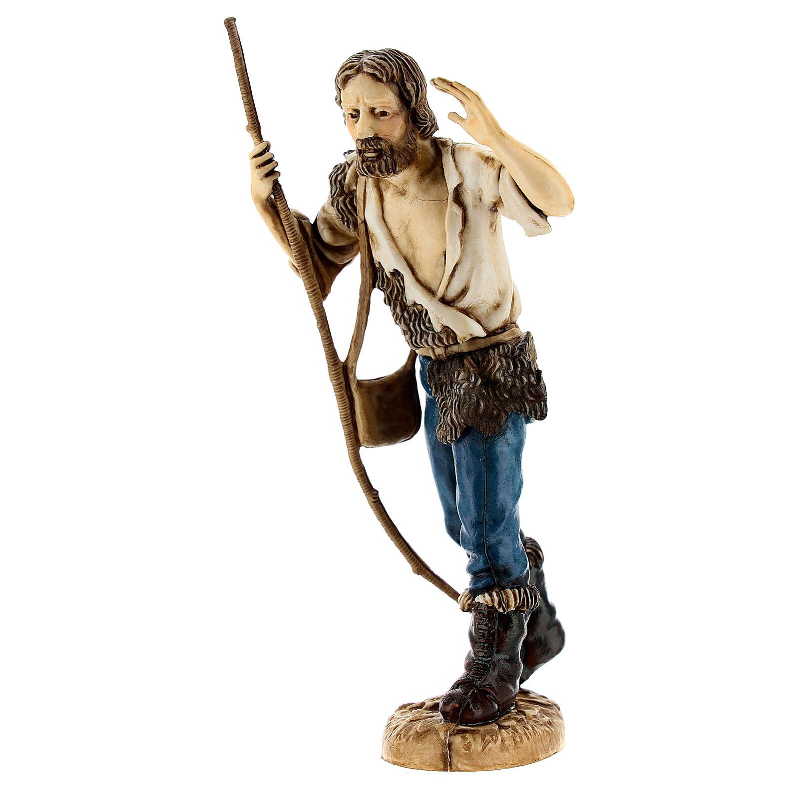 Pastore con bastone 12 cm Moranduzzo classico 4