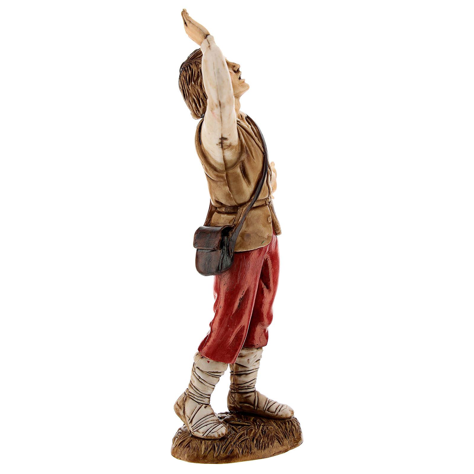 Homme surpris 12 cm crèche classique Moranduzzo 4