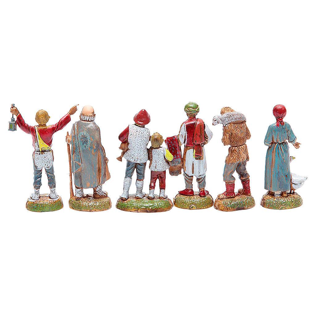 Pastori assortiti presepe 6 cm Moranduzzo 4