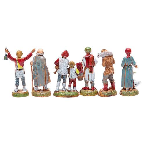 Pastori assortiti presepe 6 cm Moranduzzo 2