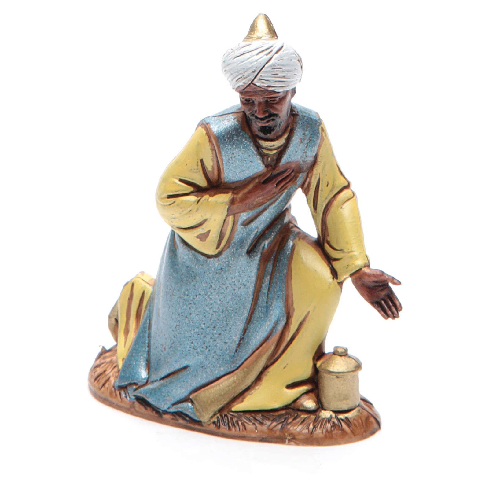 Figura Rey Mago moreno 10 cm belén Moranduzzo en trajes de época 4