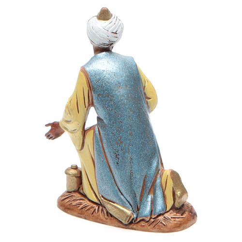 Figura Rey Mago moreno 10 cm belén Moranduzzo en trajes de época 2