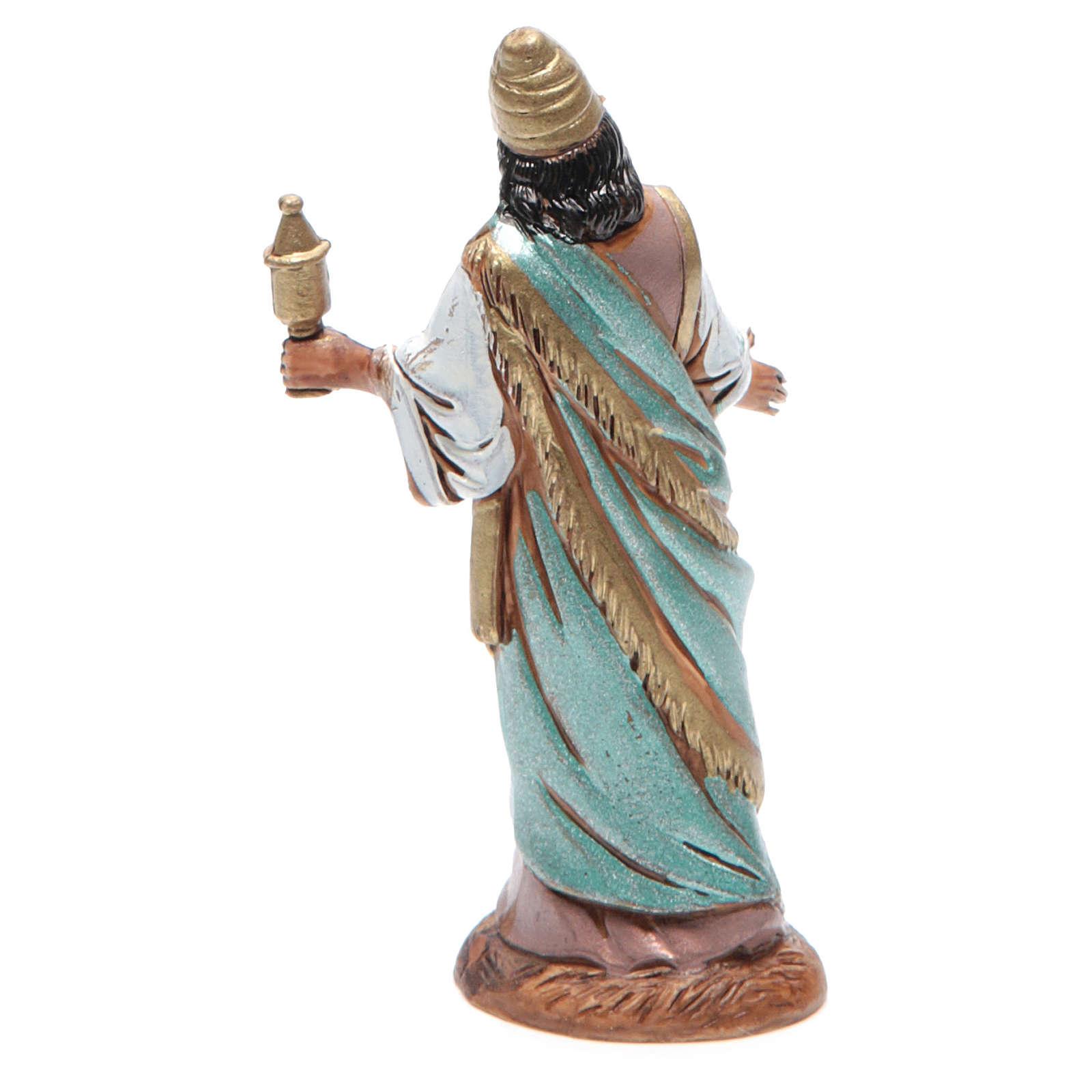 Figura Rey Mago mulato 10 cm belén Moranduzzo en trajes de época 4
