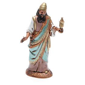 Figura Rey Mago mulato 10 cm belén Moranduzzo en trajes de época s1