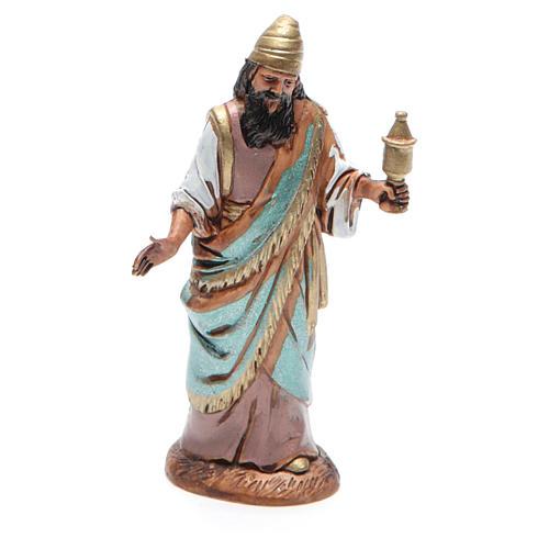 Figura Rey Mago mulato 10 cm belén Moranduzzo en trajes de época 1