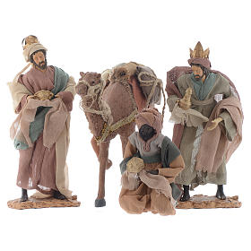 Wise Men and camel for 35cm nativities in resin s1