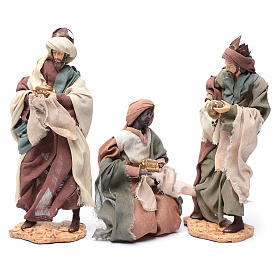 Wise Men and camel for 35cm nativities in resin s7