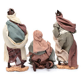 Wise Men and camel for 35cm nativities in resin s8