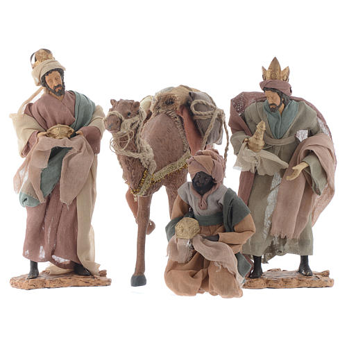 Wise Men and camel for 35cm nativities in resin 1