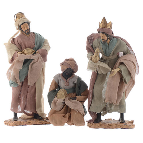 Wise Men and camel for 35cm nativities in resin 2