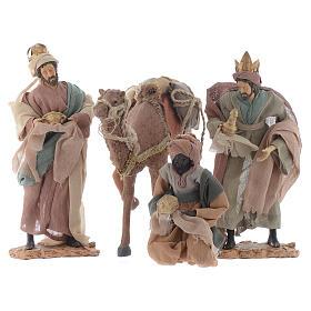 Rey magos y camello 35 cm de altura media resina s1