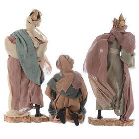 Rey magos y camello 35 cm de altura media resina s3