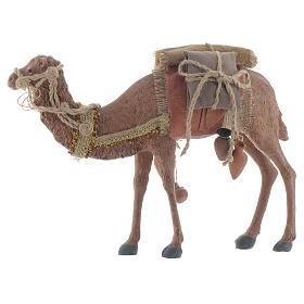Rey magos y camello 35 cm de altura media resina s4