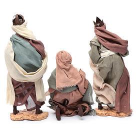 Rey magos y camello 35 cm de altura media resina s8