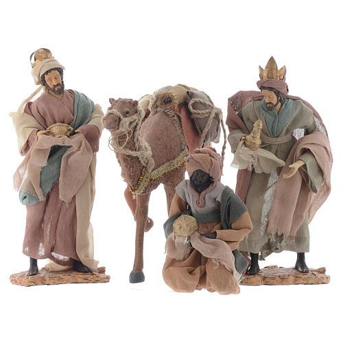 Rey magos y camello 35 cm de altura media resina 1