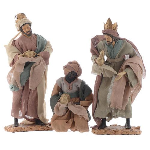 Rey magos y camello 35 cm de altura media resina 2