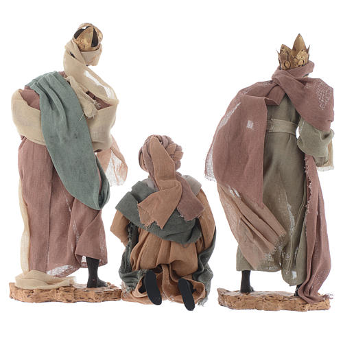 Rey magos y camello 35 cm de altura media resina 3
