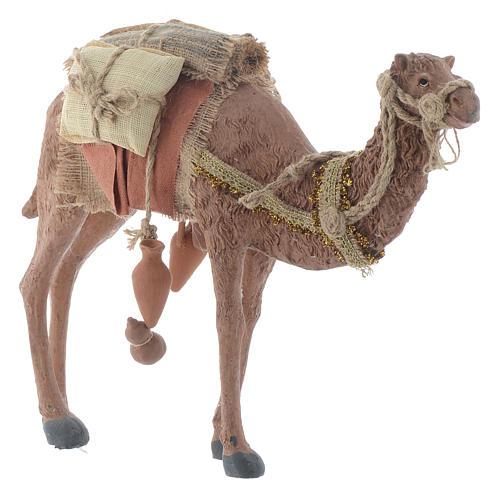 Rey magos y camello 35 cm de altura media resina 5