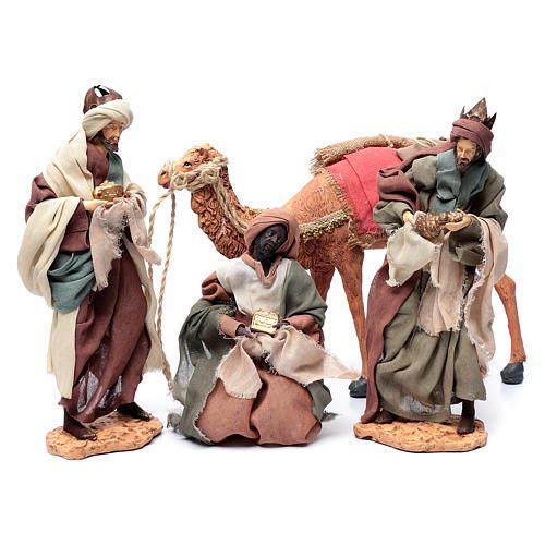 Rey magos y camello 35 cm de altura media resina 6