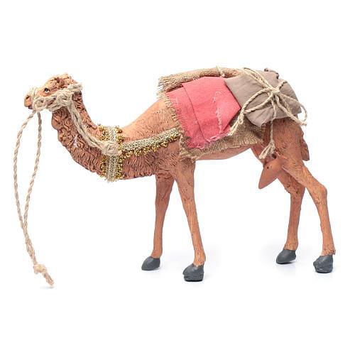 Rey magos y camello 35 cm de altura media resina 9