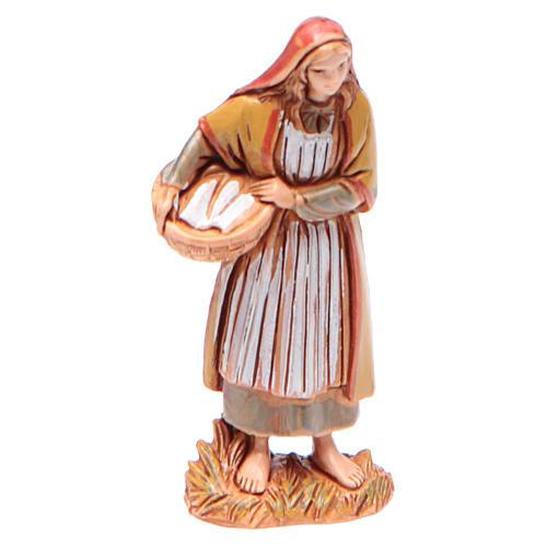 Femme avec panier 6,5 cm Moranduzzo vêtements historiques 1