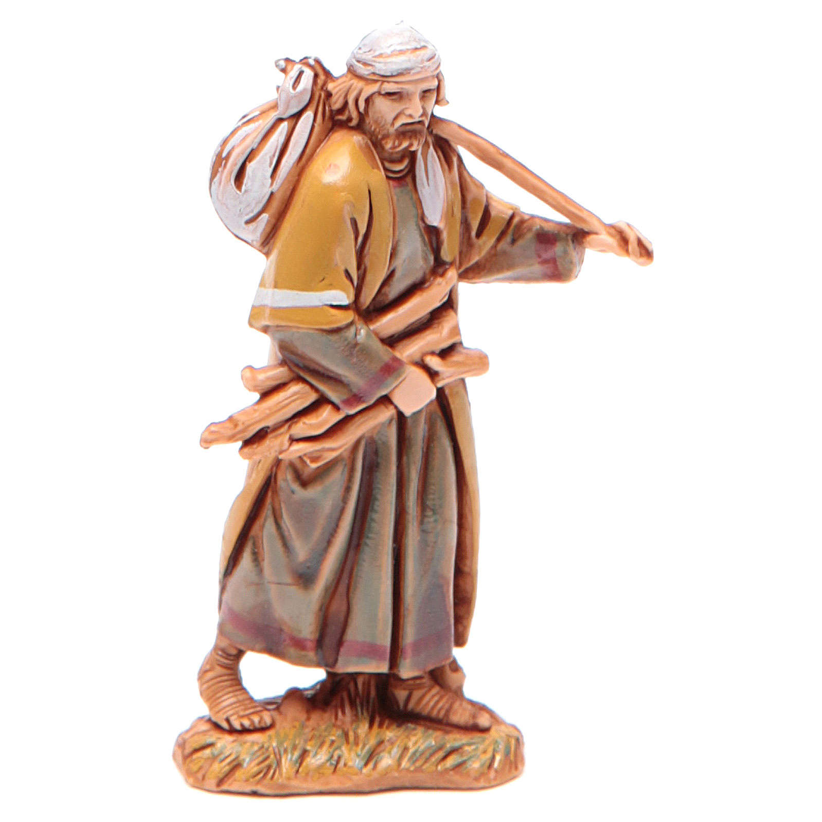 Man carrying wood for nativities of 6.5cm by Moranduzzo, Arabian style 4