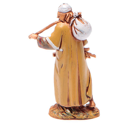 Man carrying wood for nativities of 6.5cm by Moranduzzo, Arabian style 2