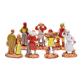 Assorted shepherds figurines, 7 pieces for nativities measuring 3.5cm s2