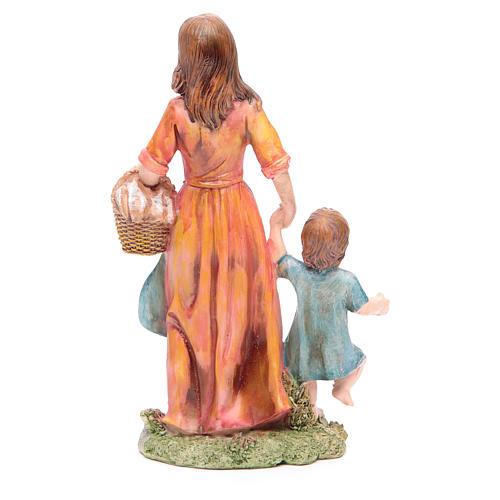 Donna con bambino 21 cm presepe resina 2