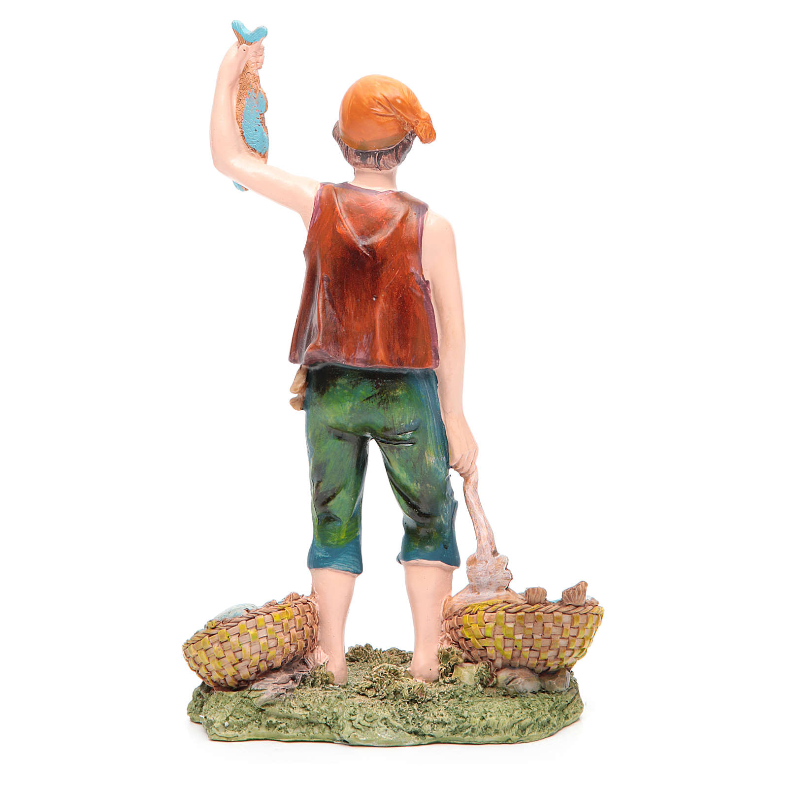 Pescatore 21 cm presepe resina 3