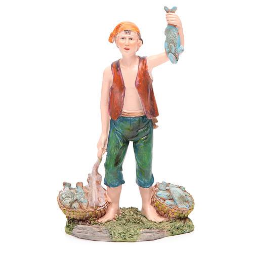 Pescatore 21 cm presepe resina 1