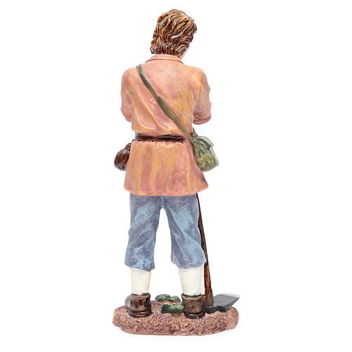 Pastore con zappa 30 cm resina 2