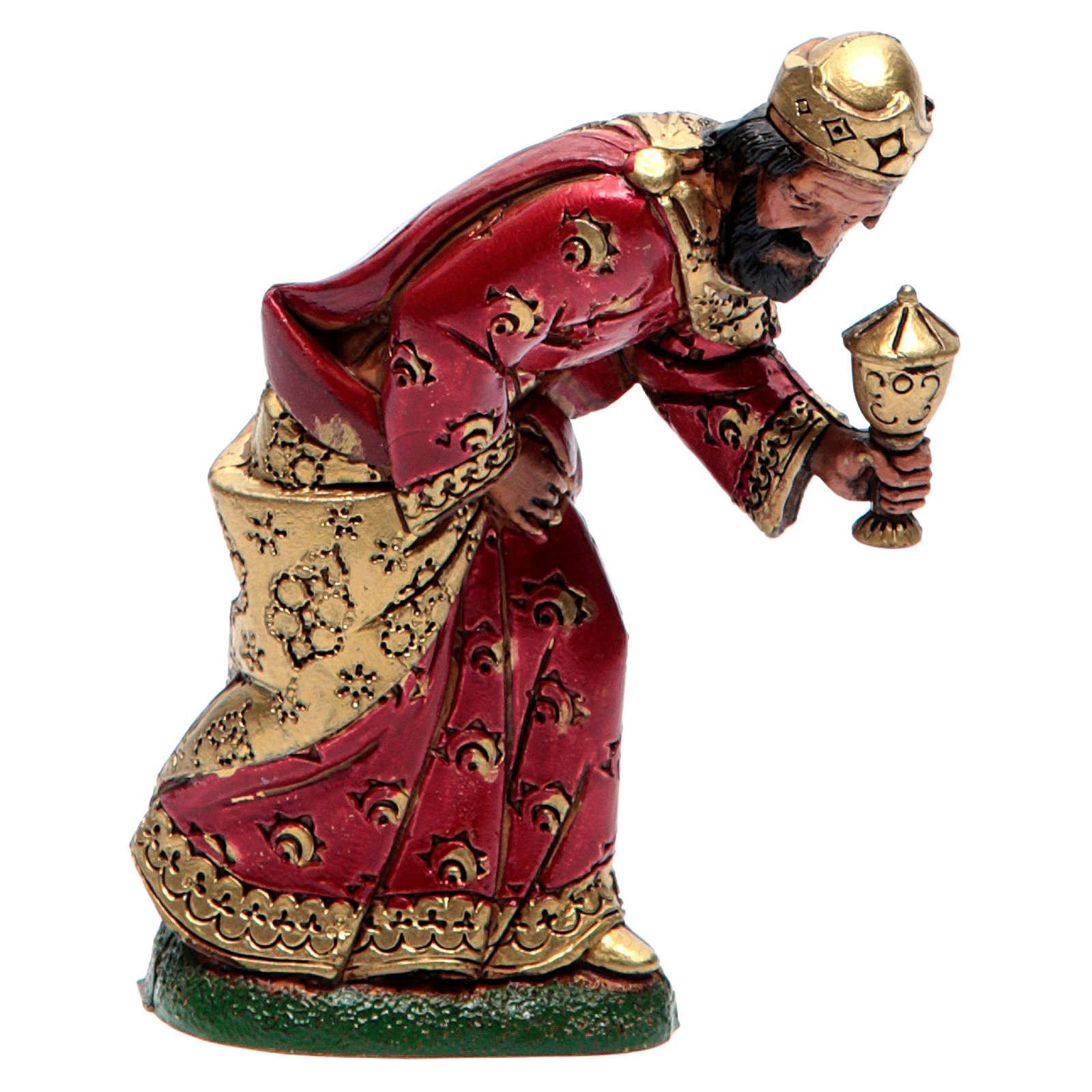 Moranduzzo nativity scene figurine 12cm, mulatto wise king 4