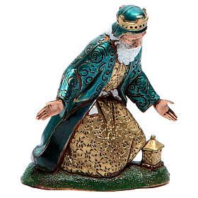 Moranduzzo nativity scene figurine 12cm, white wise king s1