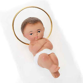 Baby Jesus figurine in plaster, 6 cm s2